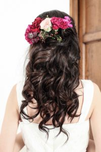 Anatorres model for a bridal shoot with clip-in hair