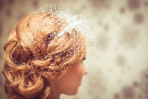 classic bridal hairstyle with strawberry hair-extensions