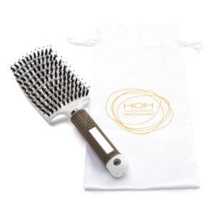 Haarbürste weiss zum haare entwirren
