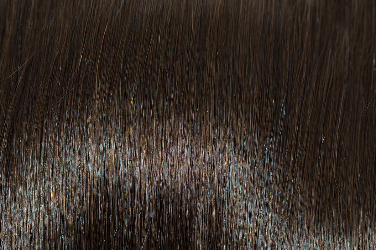 Remy 100% human hair extension color Dark Brown