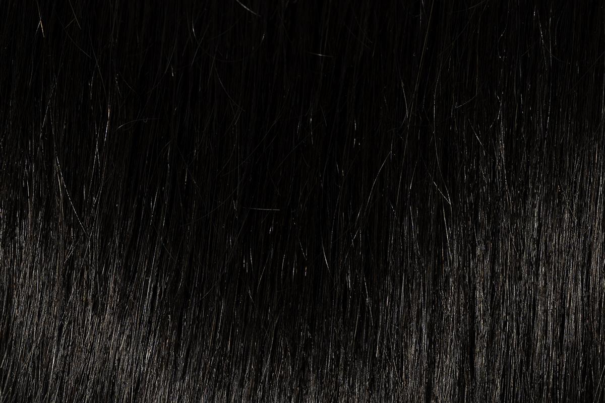 Remy 100% human hair extension color Natural Super Black