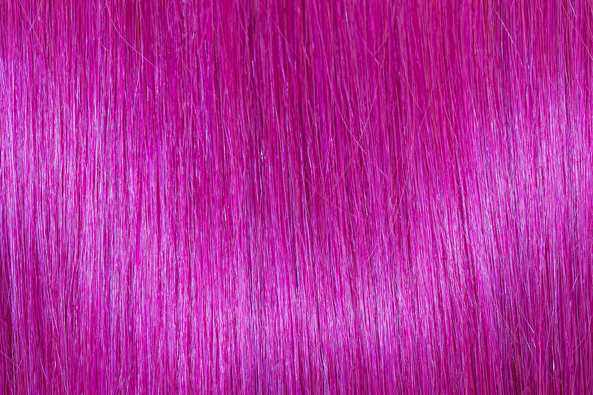 Remy 100% human hair extension rental Color Pink. Just for fun!