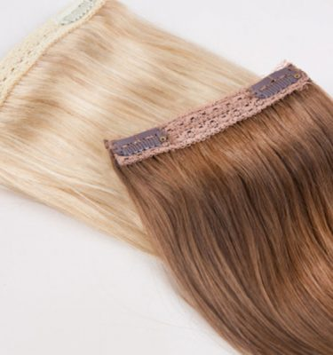 Hair extension color match sample