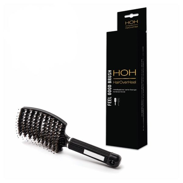 White Or Black Boar Bristle Hair Extension Brush With Nylon
